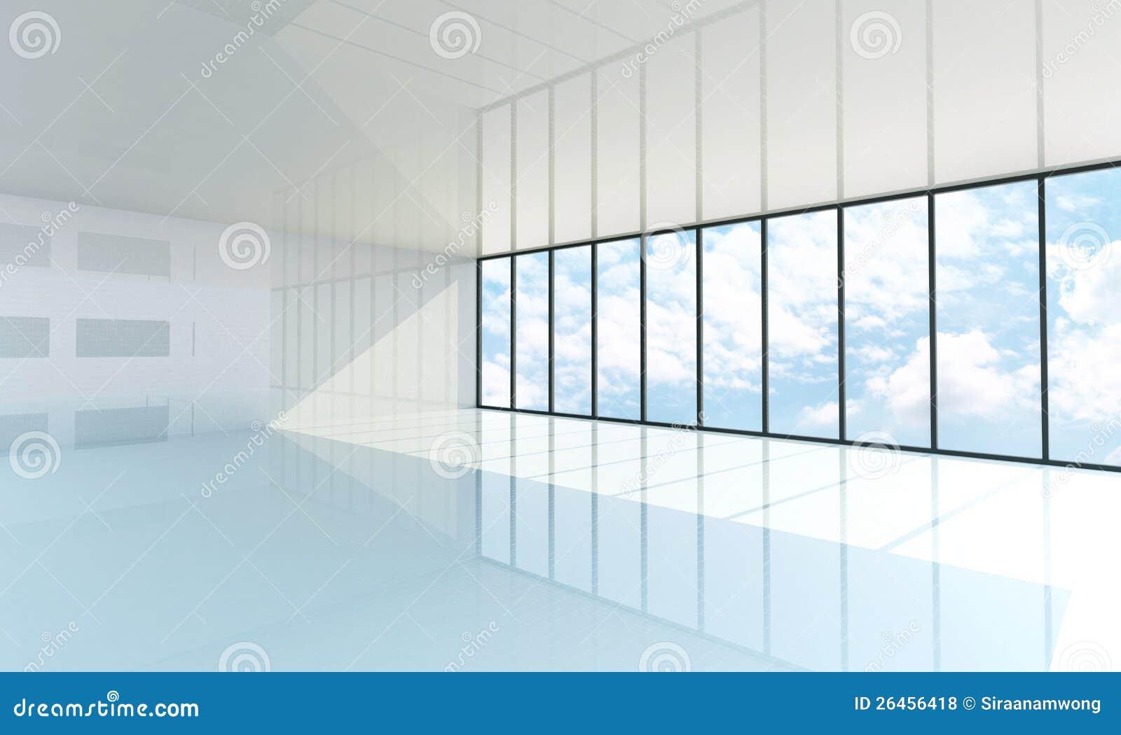 leerer wei er raum mit dem gro en fenster lizenzfreie stockfotos bild 26456418. Black Bedroom Furniture Sets. Home Design Ideas