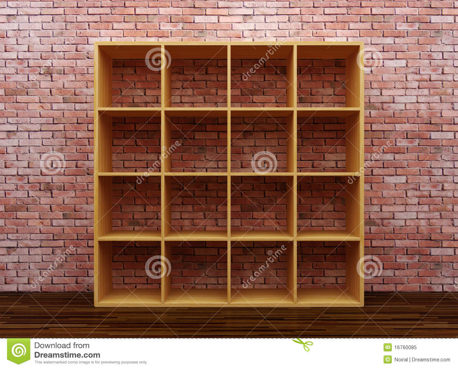 Leeres Bücherregal