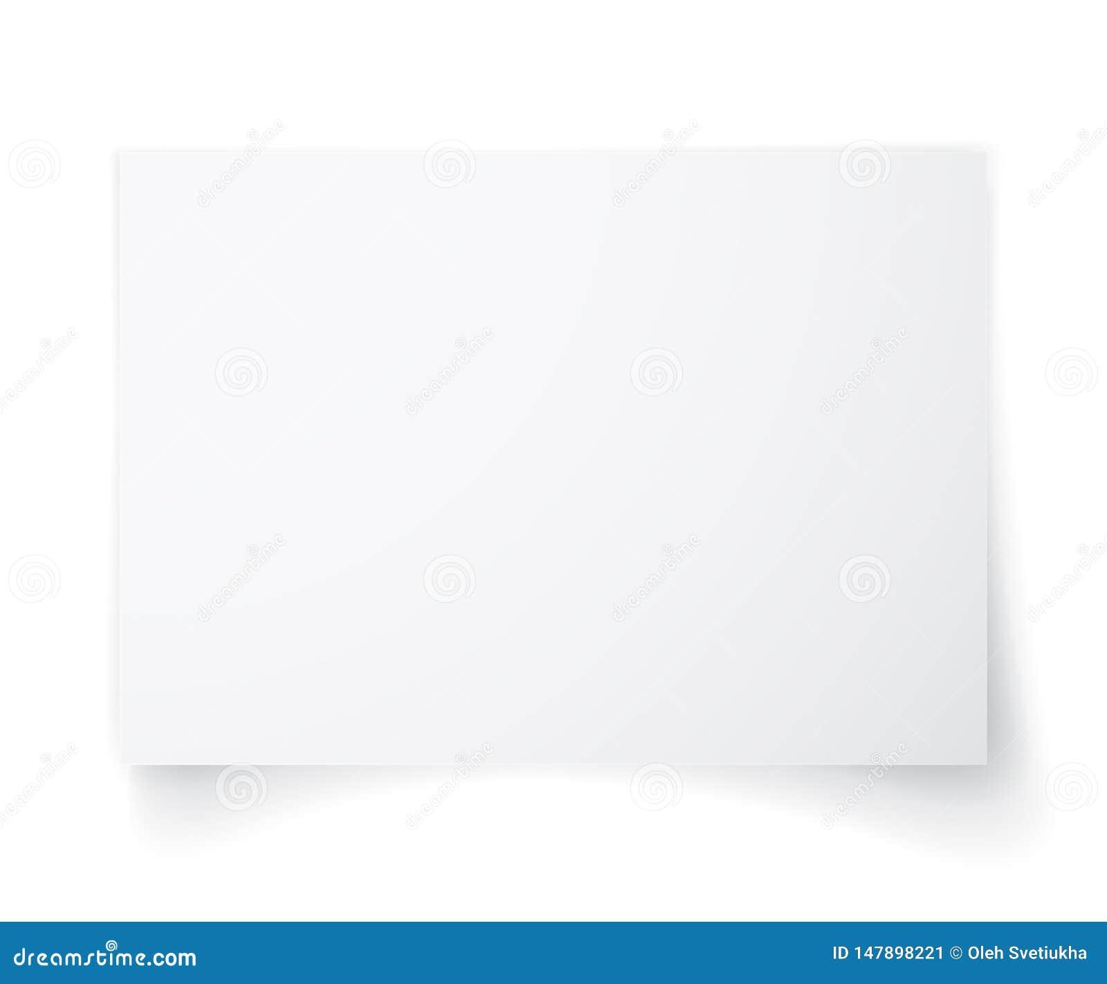 Leeres Blatt A4 des Wei?buches mit Schatten, Schablone f?r Ihren Entwurf set Auch im corel abgehobenen Betrag