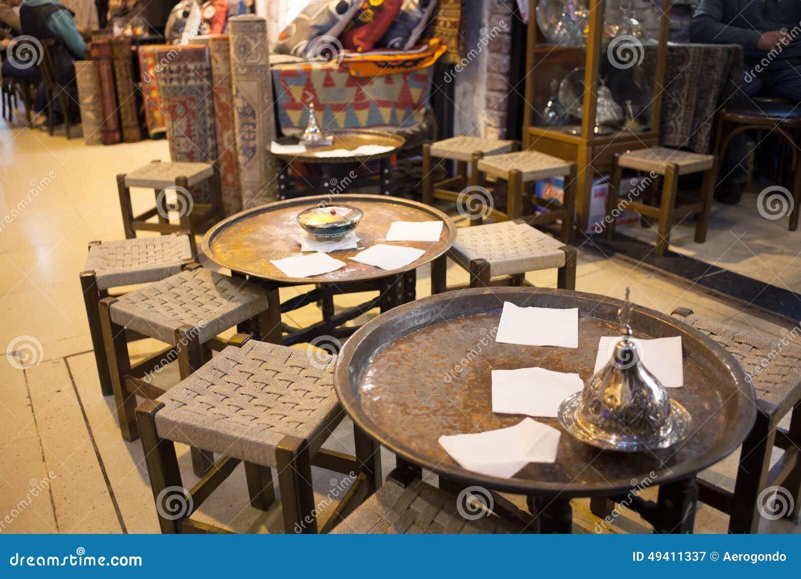 Download Leeres Café Innerhalb Des Türkischen Marktes Stockbild - Bild von traditionell, orientalisch: 49411337