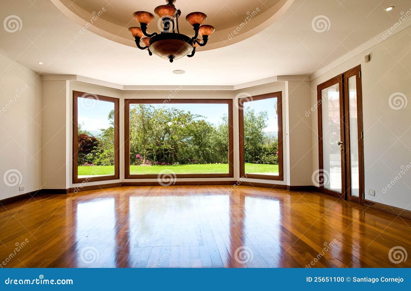 leeres gro es wohnzimmer stockfoto bild 25651100. Black Bedroom Furniture Sets. Home Design Ideas