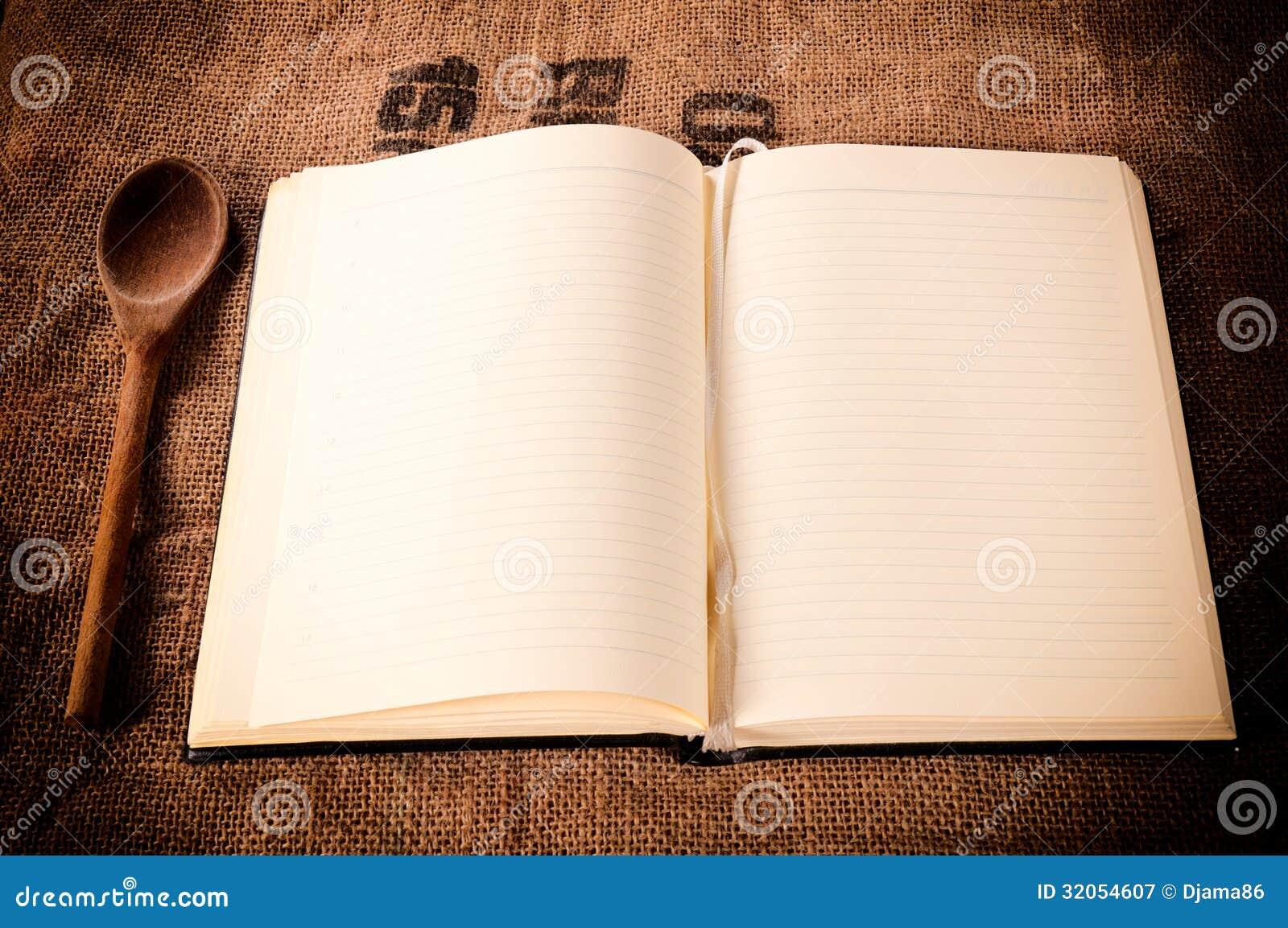 leeres kochbuch stockbild bild von kultur leerzeichen 32054607. Black Bedroom Furniture Sets. Home Design Ideas