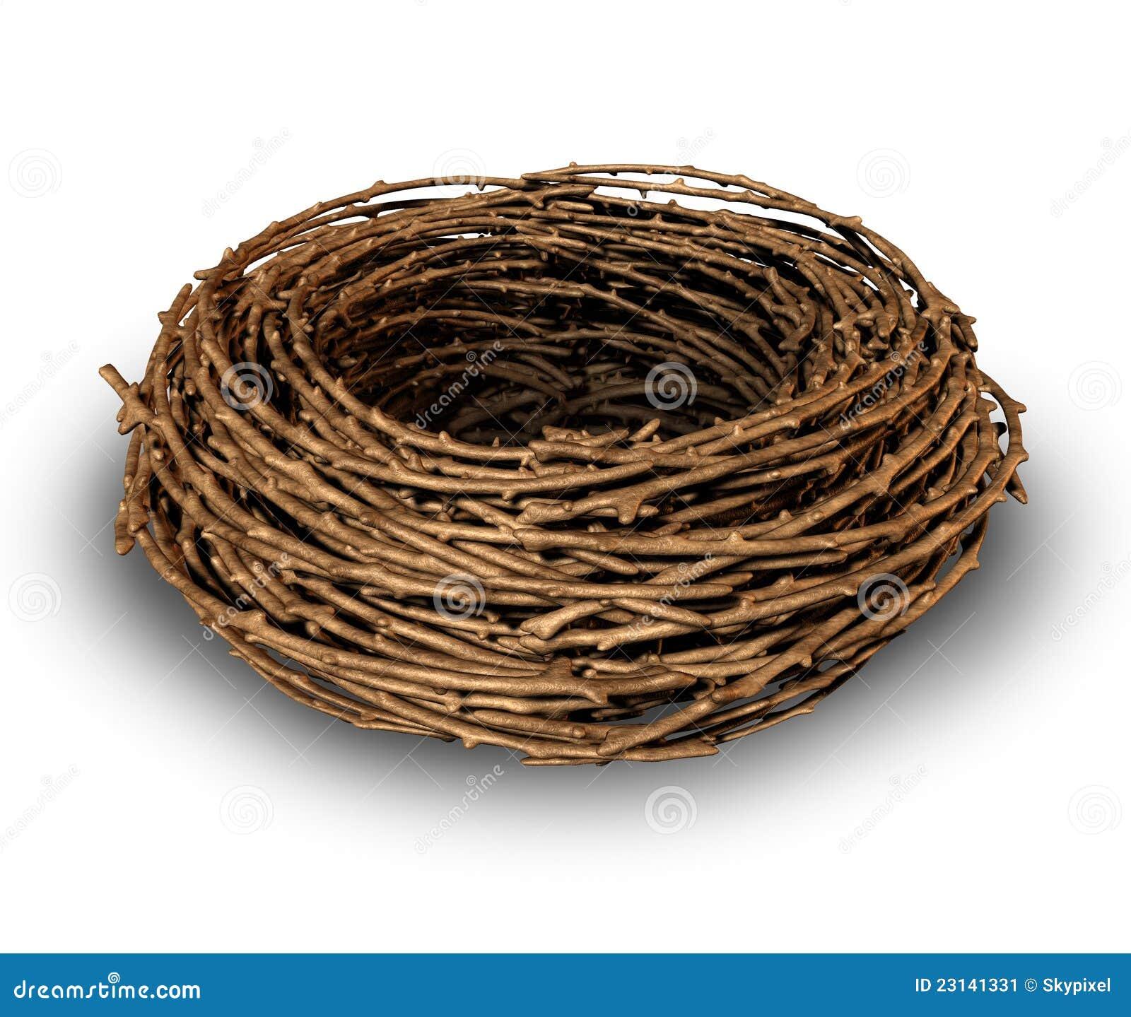 leeres nest stock abbildung illustration von nostalgiker 23141331. Black Bedroom Furniture Sets. Home Design Ideas