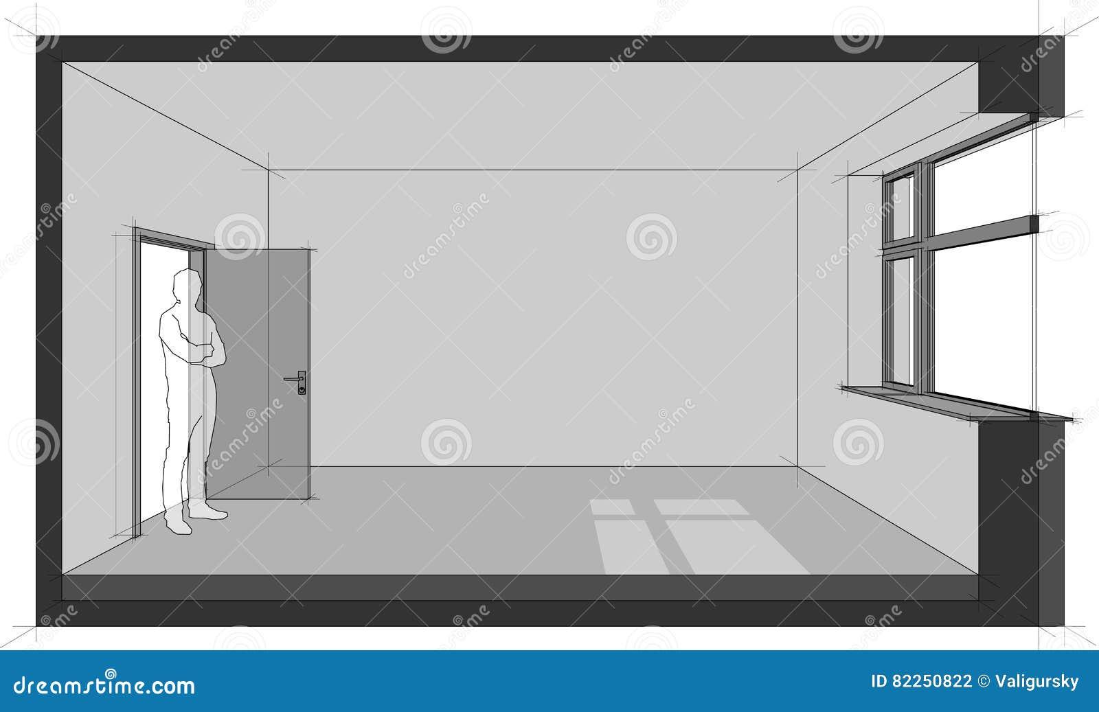 Leeres Raumdiagramm vektor abbildung. Illustration von raum - 82250822