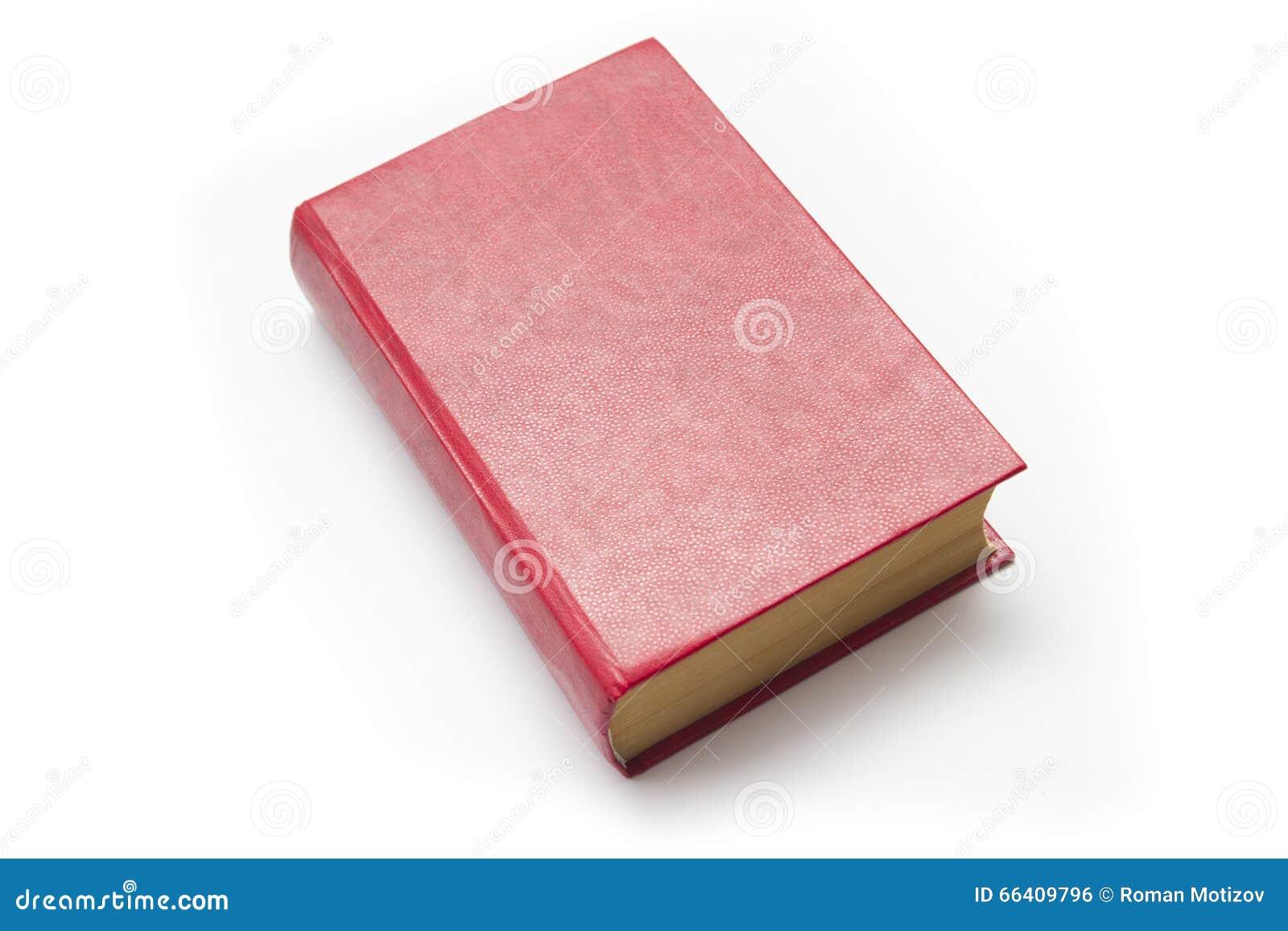 0826b784e08 Leeres Rotes Gebundenes Buch Auf Weißem Hintergrund Mit Kopienraum ...