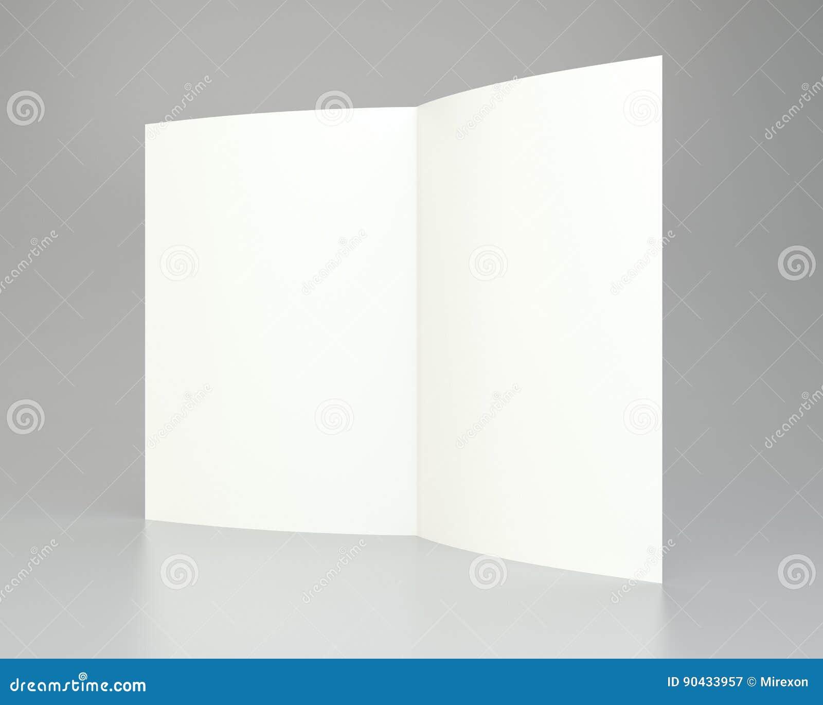 Leeres Weiß ausgebreitetes Papier A4 zerknittert Wiedergabe 3d
