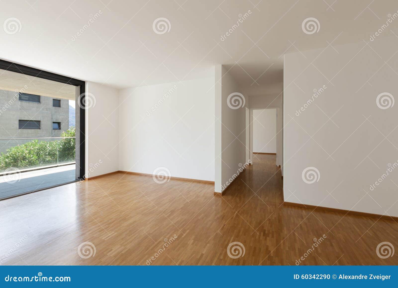 Leeres wohnzimmer mit balkon stockfoto bild von modern
