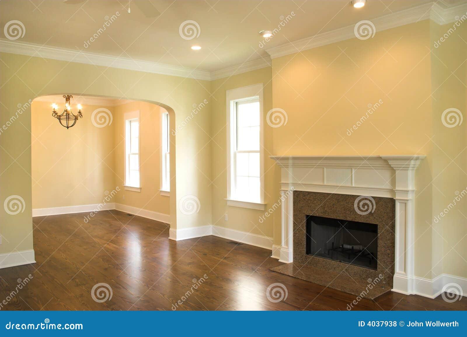 Leeres wohnzimmer mit kamin stockfoto bild 4037938 for 7 1 wohnzimmer