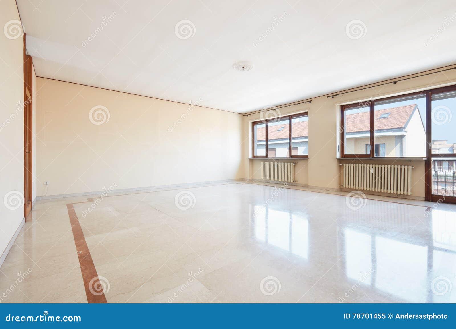 Leeres Wohnzimmer Mit Marmorboden