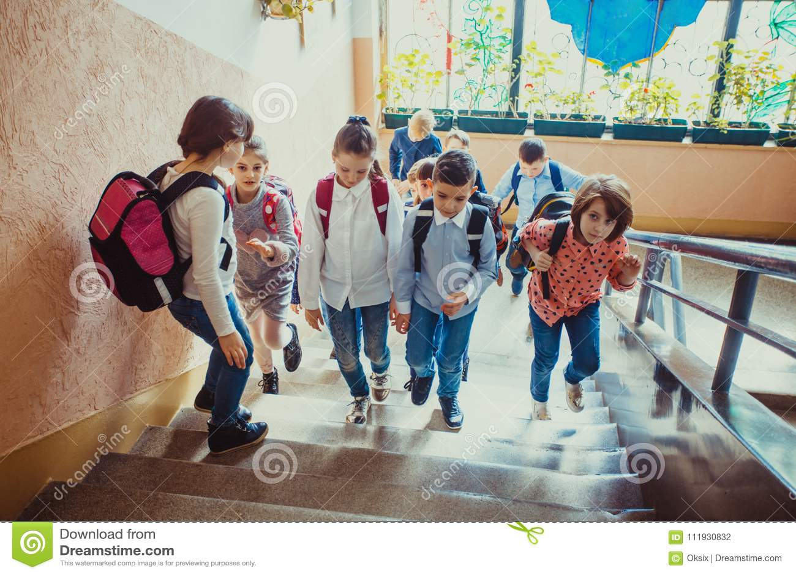 Leerlingen die op onderbreking gaan
