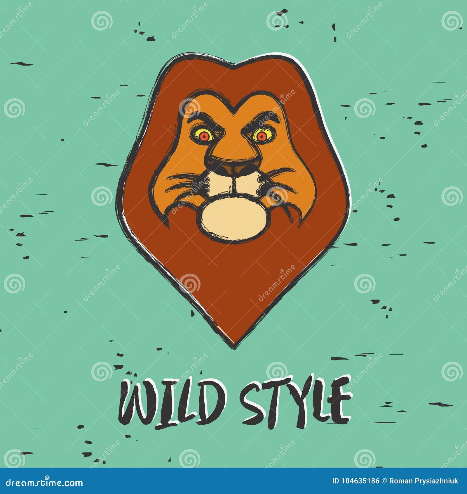 Download Leeuw Grafisch Voor Druk Ontwerpkleren, T-shirts, Embleem Vector Illustratie - Illustratie bestaande uit zoogdier, leider: 104635186
