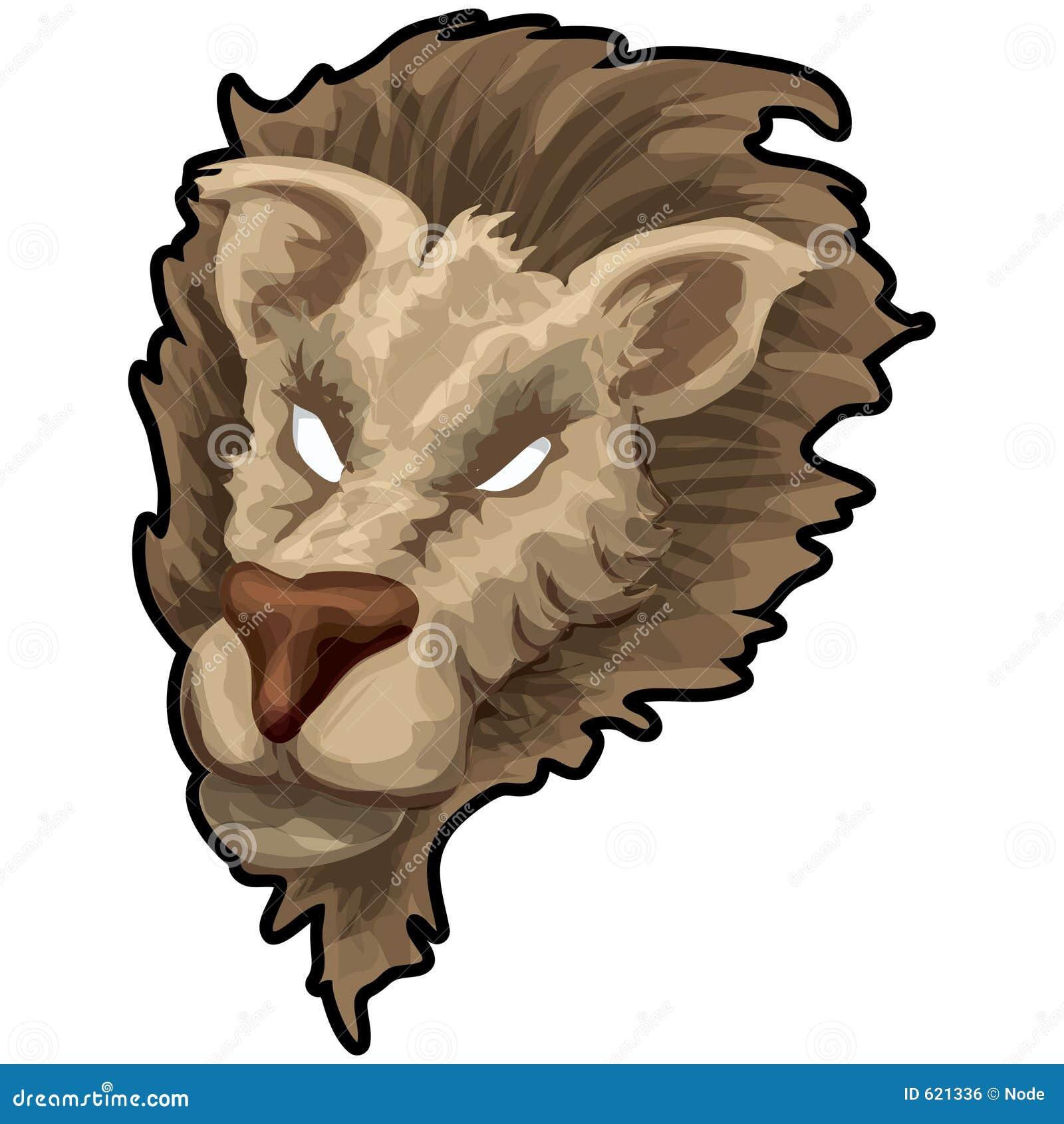 Leeuw met het knippen van weg