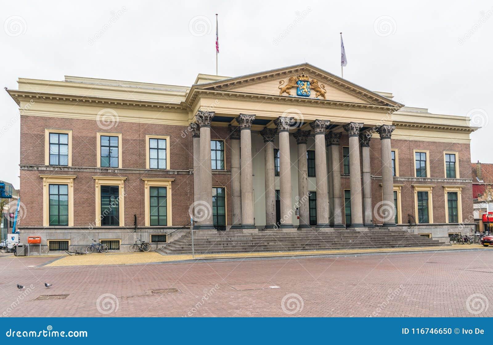 Leeuwarden, die Niederlande am 14. April 2018 Einheimisches, welches die Co führt