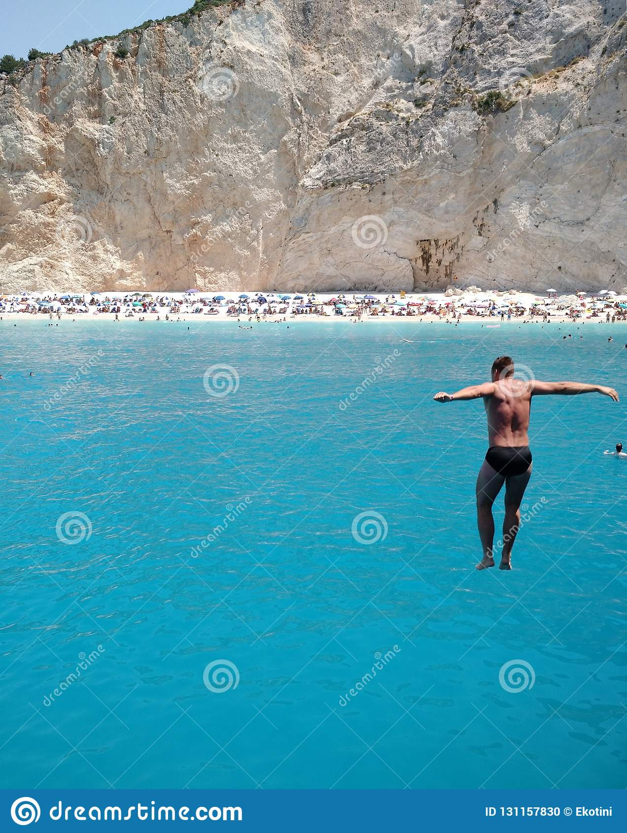 Jumping into the sea, Greek Ionian Islands