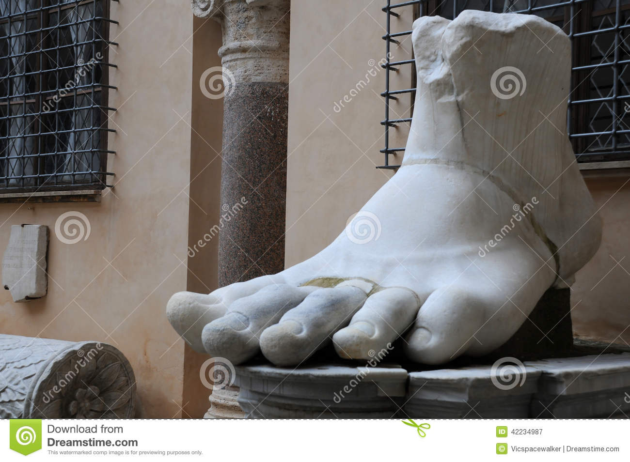 Left Foot of Colossus of Constantine