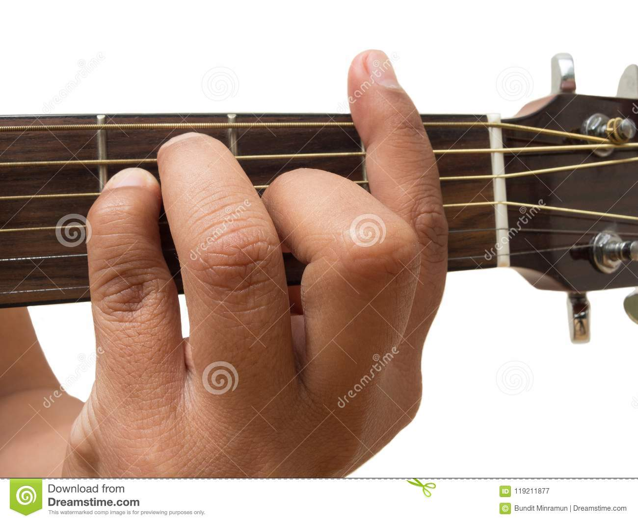 Left Hand Gesture Chord F Guitar Chord Finger Position In Close Up