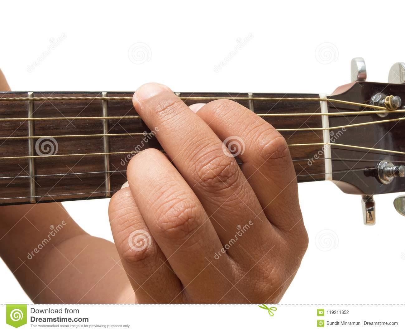 Left Hand Gesture Chord G Guitar Chord Finger Position In Close Up