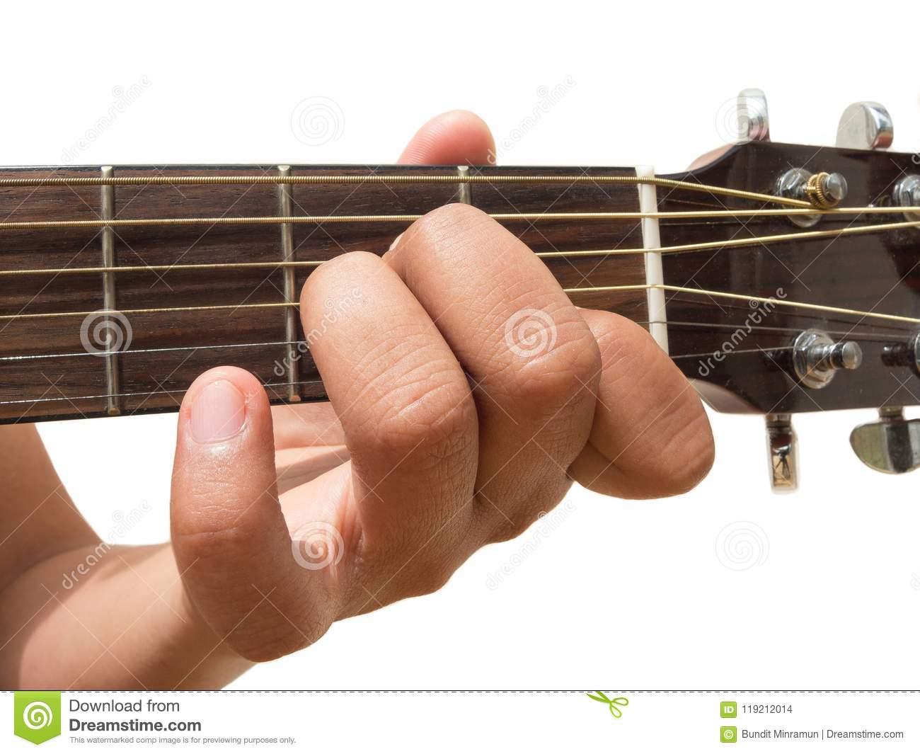 Left Hand Gesture Chord Am Guitar Chord Finger Position In Close
