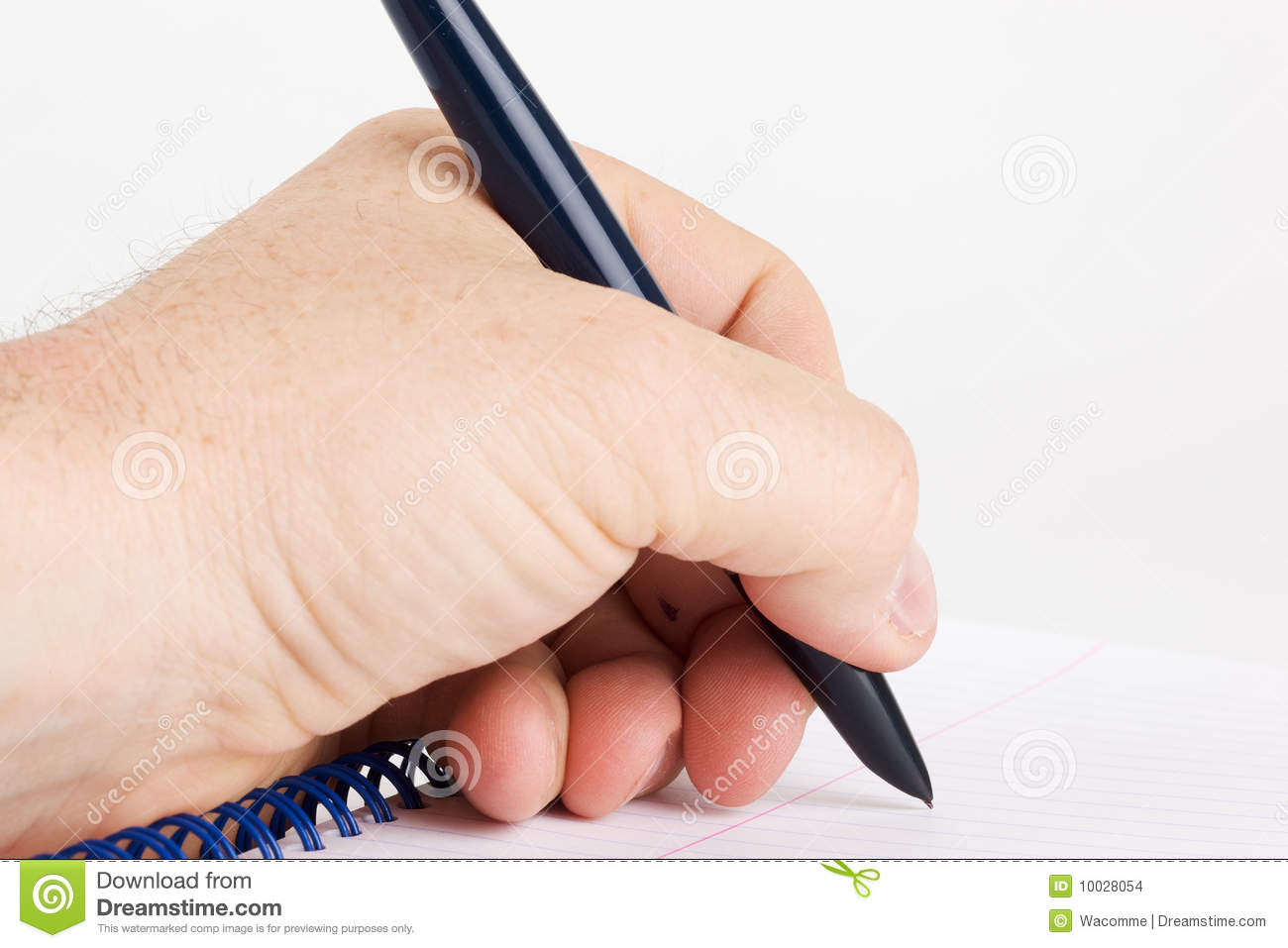 Left handed writing stock images image