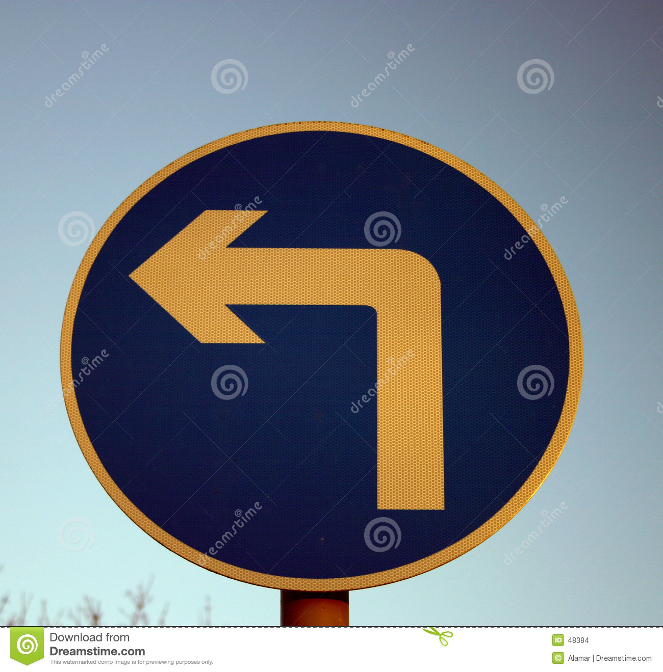 Download Left turn sign stock photo. Image of road, direction, cars - 48384