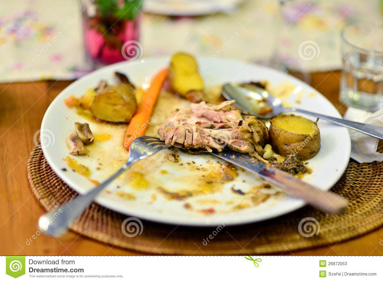 Leftover food stock image image of left dish for Assiette cuisine