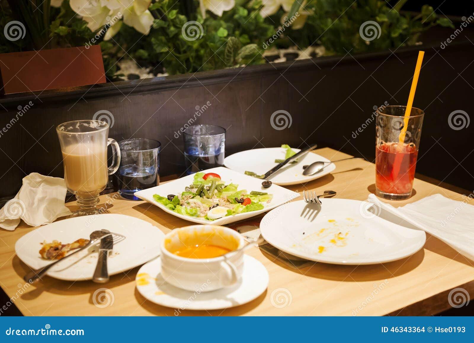 Leftover Food Stock Photo Image Of Restaurant Economy 46343364