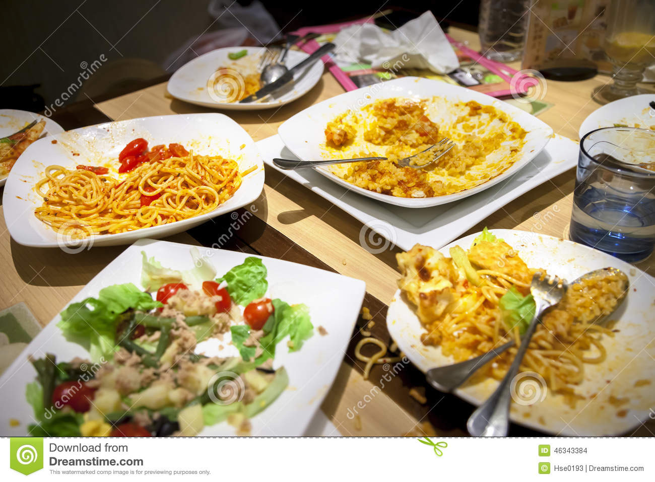 Leftover Food Stock Photo Image Of Dinner Hadit Table 46343384