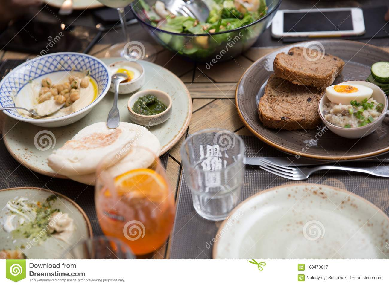 Leftovers Food On Table At Banquet Stock Image Image Of Candid