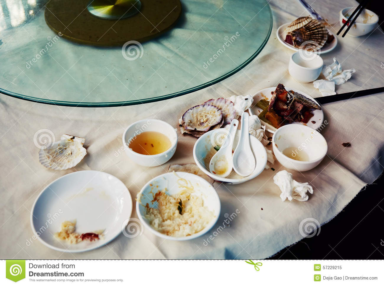 Dirty dishes leftovers leftover food stock image image for On the table restaurant