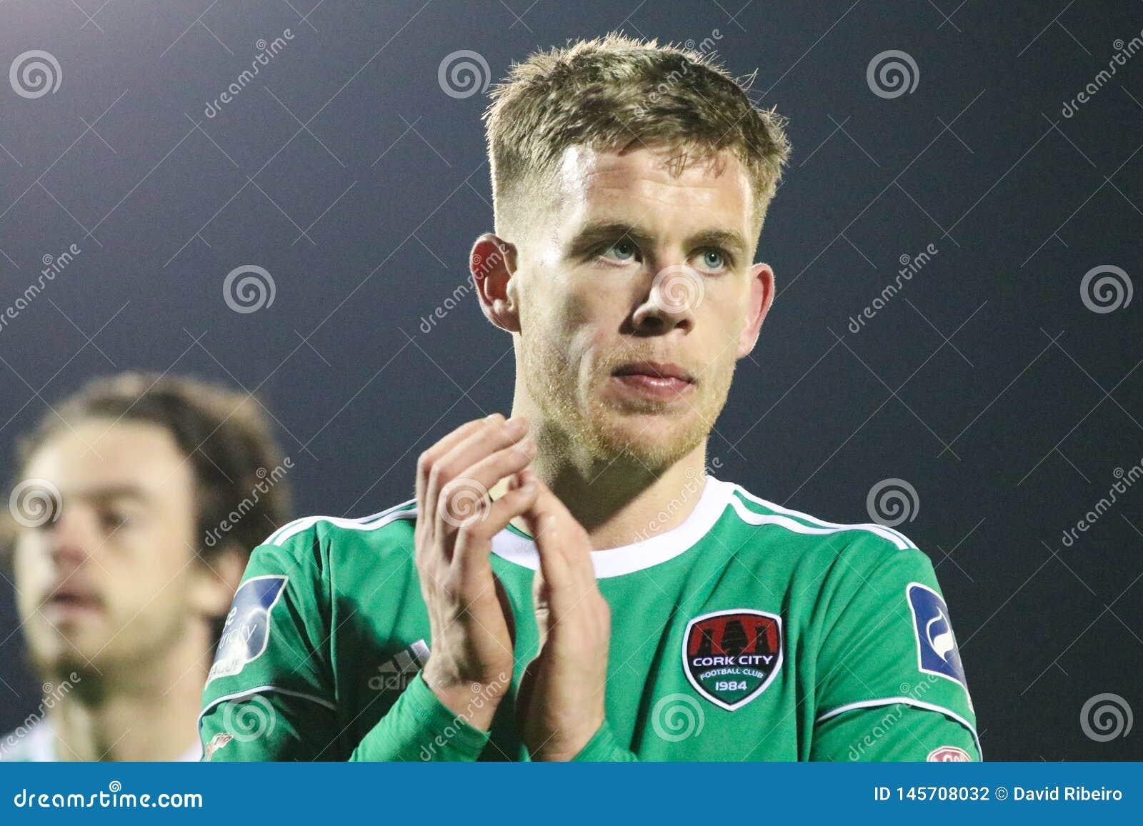 Lega della partita prima di divisione dell Irlanda fra Cork City FC contro il FC atletico di St Patrick