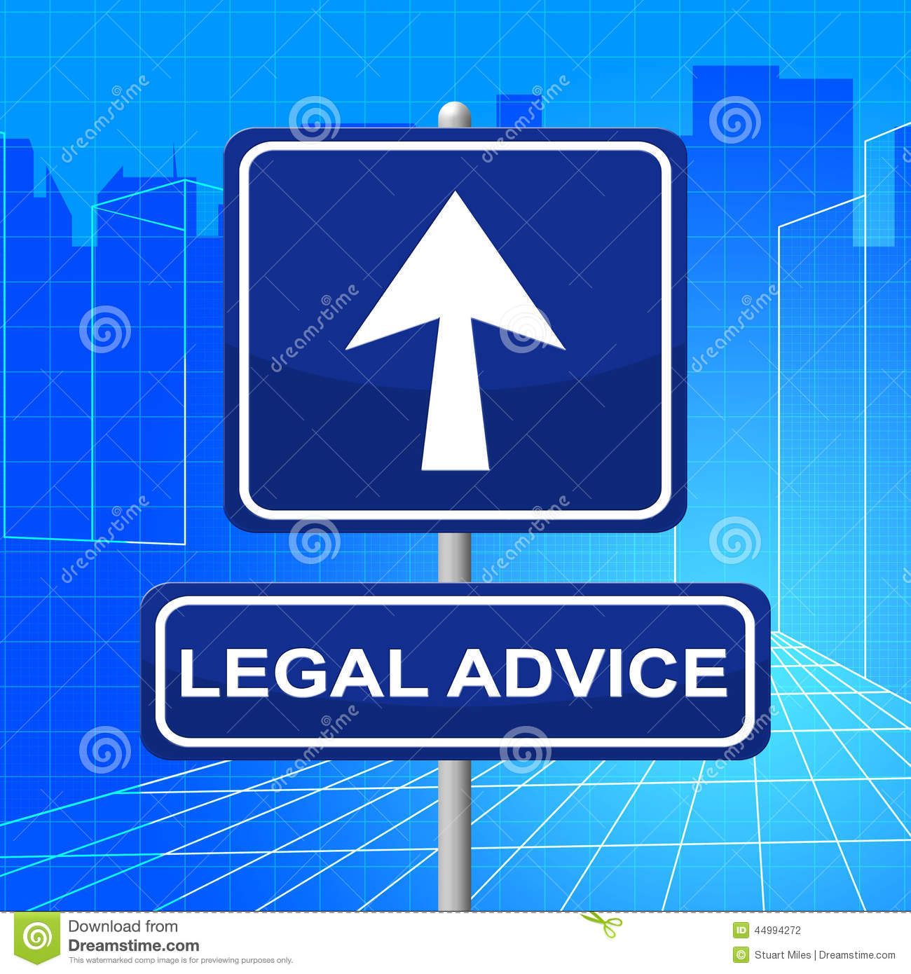 Legal Advice Means Pointing Sign And Legally Stock ...