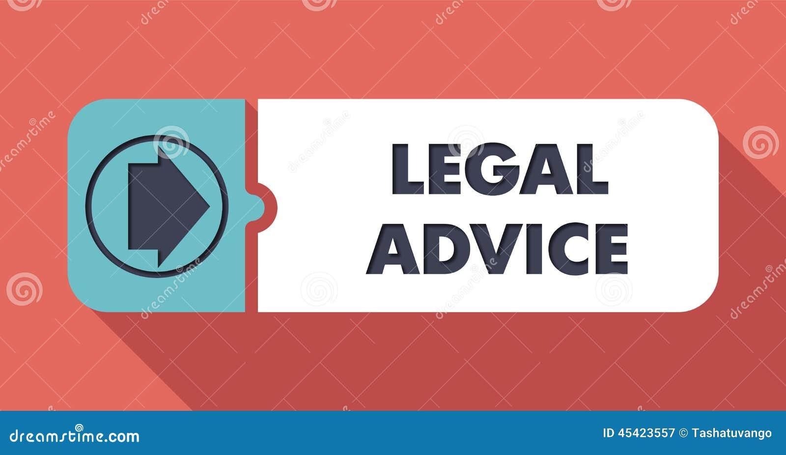 Legal Advice On Scarlet In Flat Design. Stock Illustration ...
