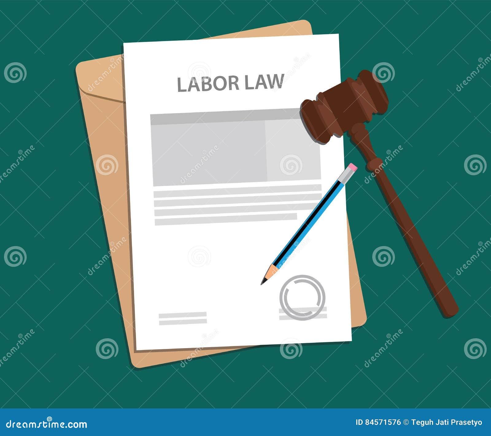 Legal concept of labor law illustration