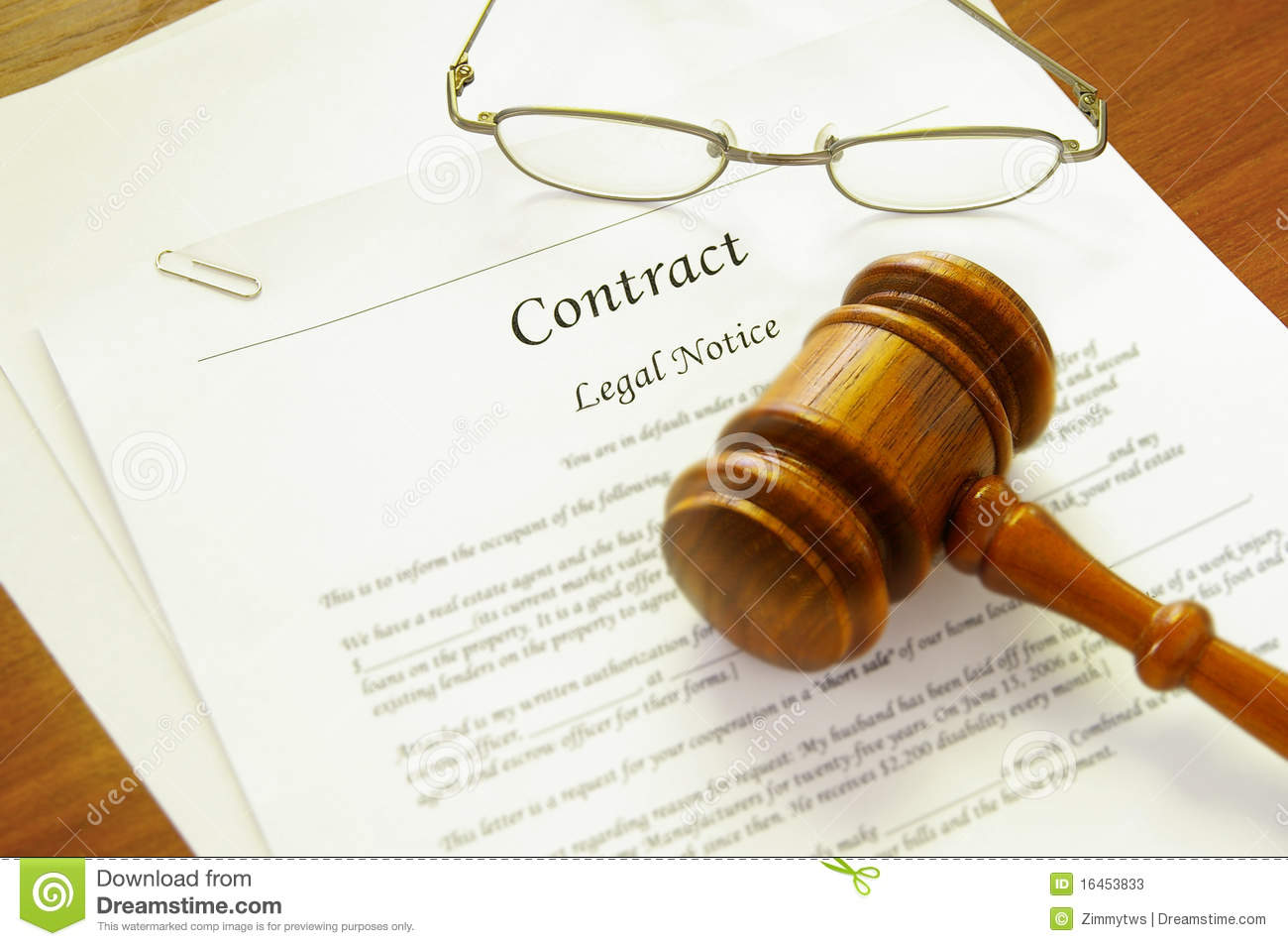 Legal Contract Royalty Free Stock Image - Image: 15928276