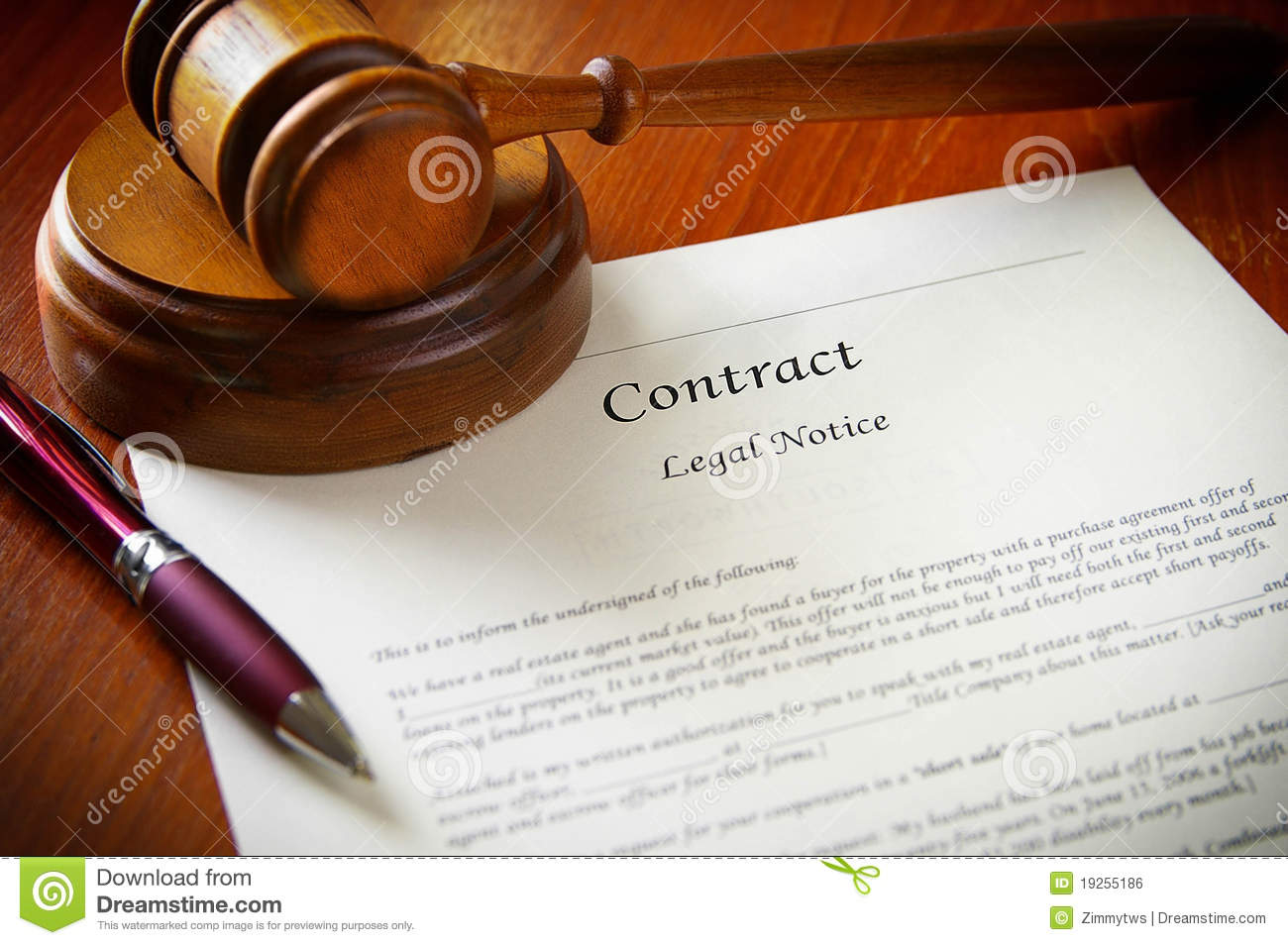 Legal Contract Royalty Free Stock Image - Image: 19255186