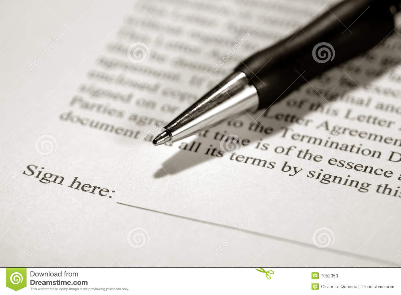 Legal Contract Ready To Be Signed With Ink Pen Stock Photos ...