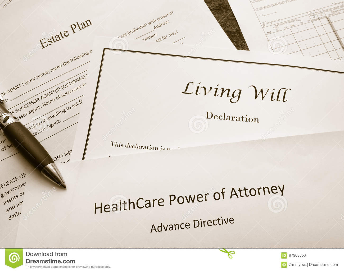 Legal And Estate Planning Documents Stock Image Image Of Planning - Legal documents power of attorney