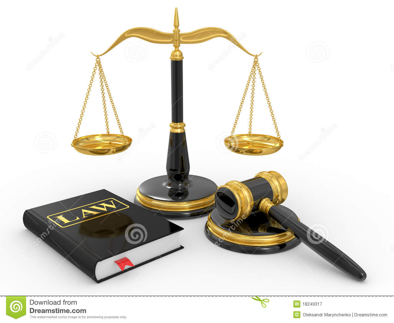 Legal Gavel Scales And Law Book Royalty Free Stock