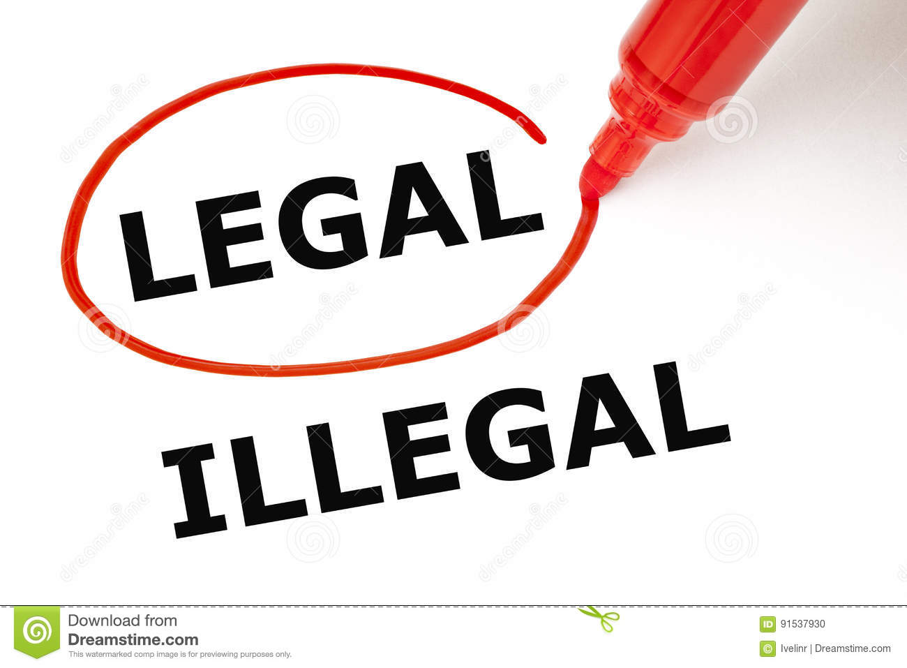 Legal or Illegal with Red Marker