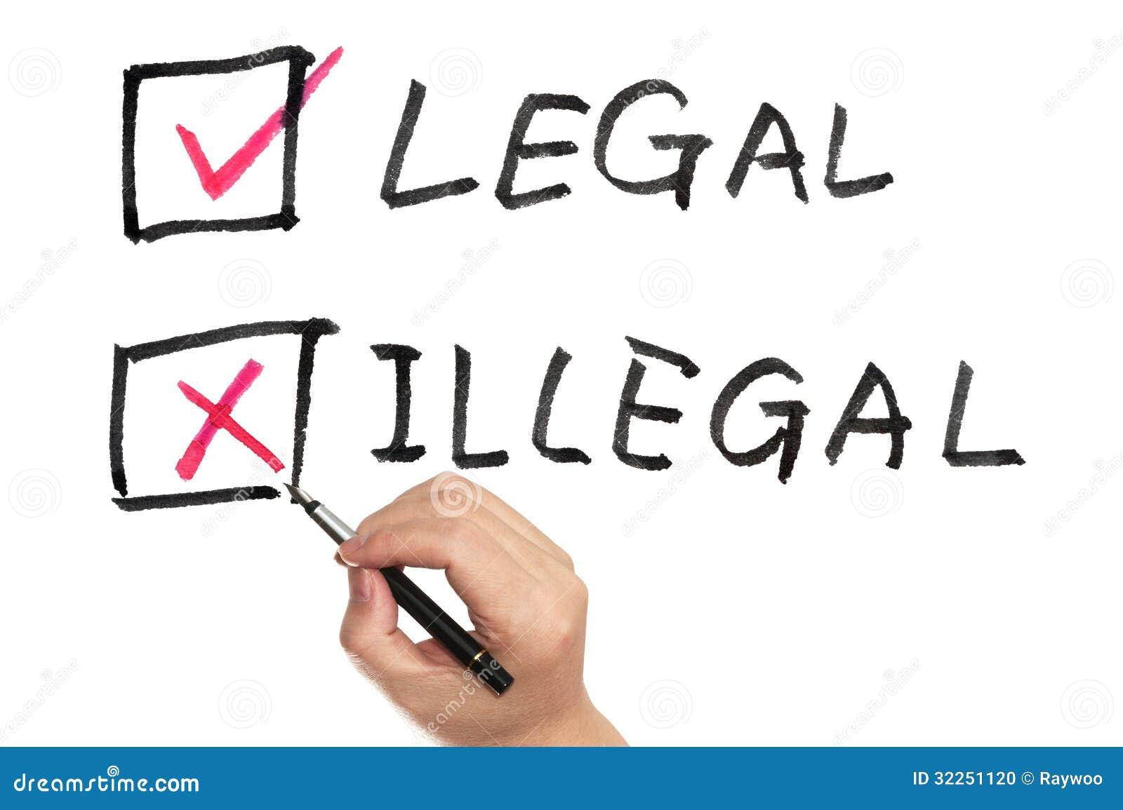 Legal oder illegal