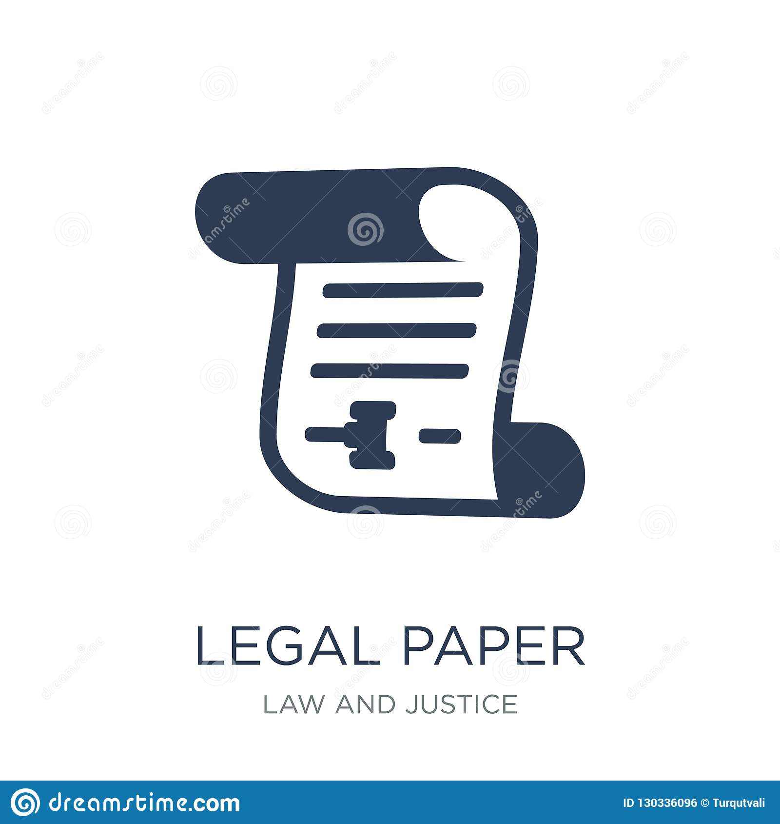Legal paper icon. Trendy flat vector Legal paper icon on white b