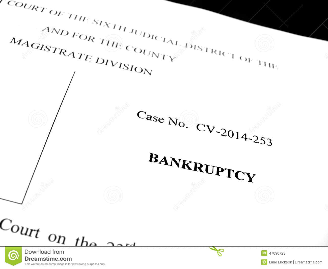 legal papers lawsuit bankruptcy filing stock image image of court
