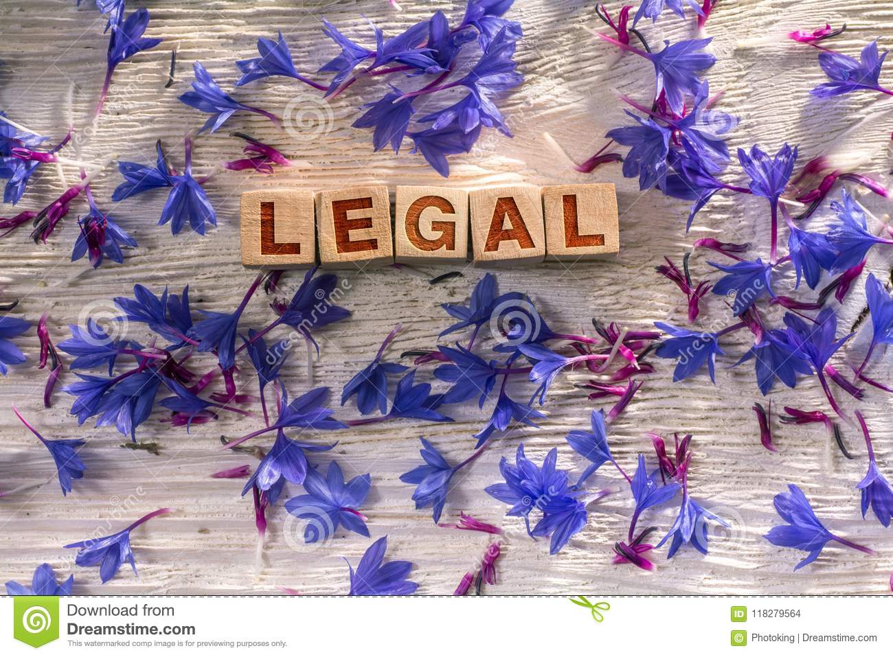 Legal on the wooden cubes