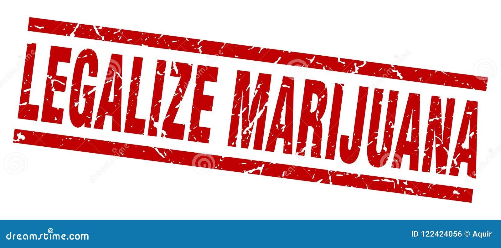Legalisieren Sie Marihuanastempel