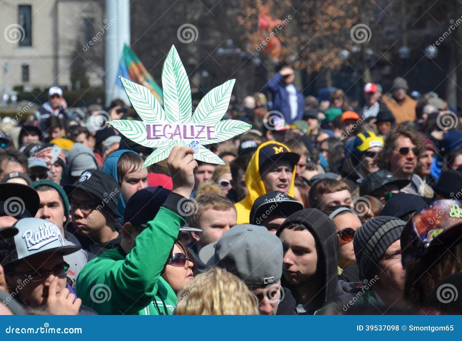 Legalize sign at Ann Arbor Hash Bash 2014