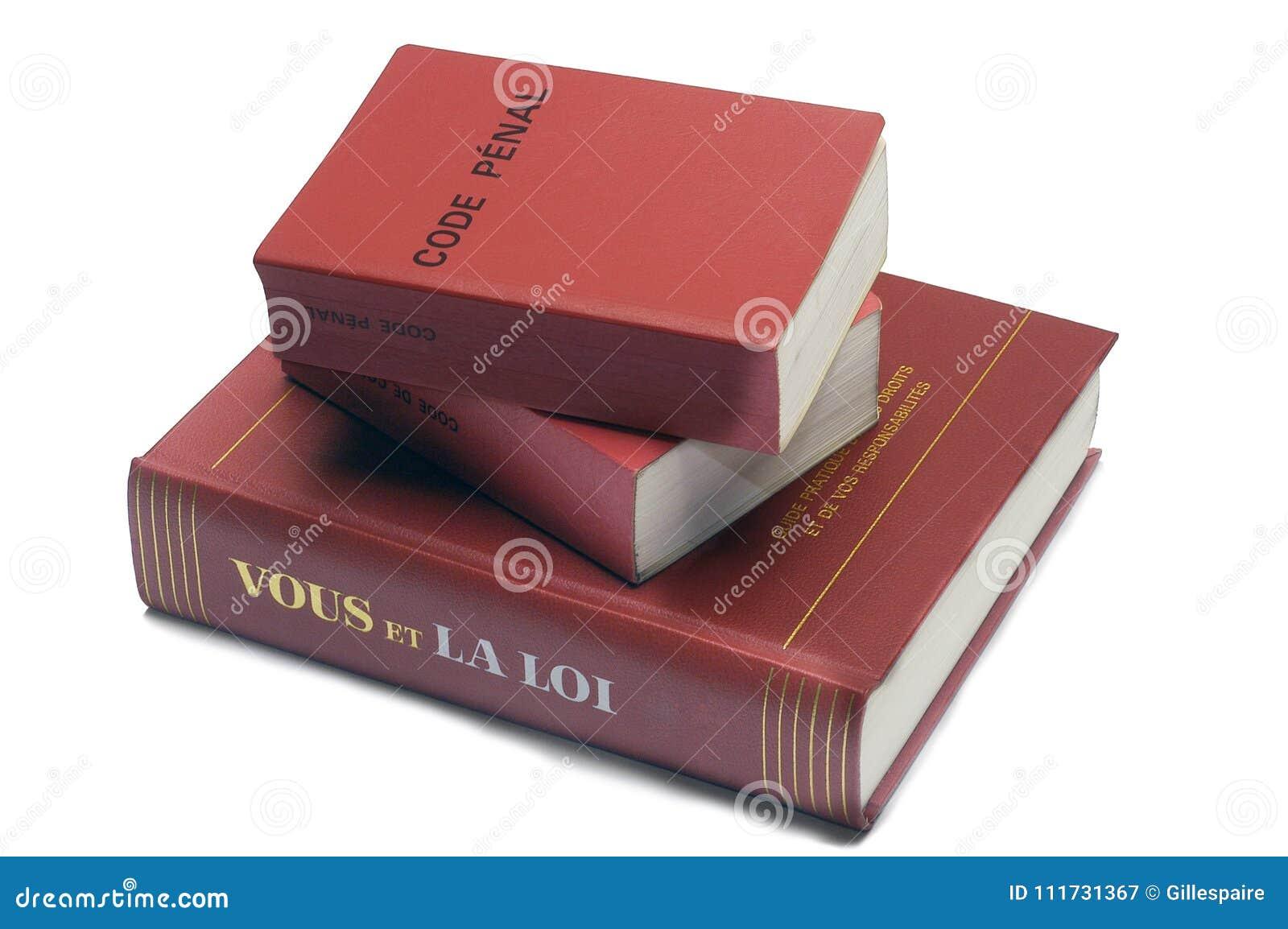 Legalne książki i Francuski kodeks karny