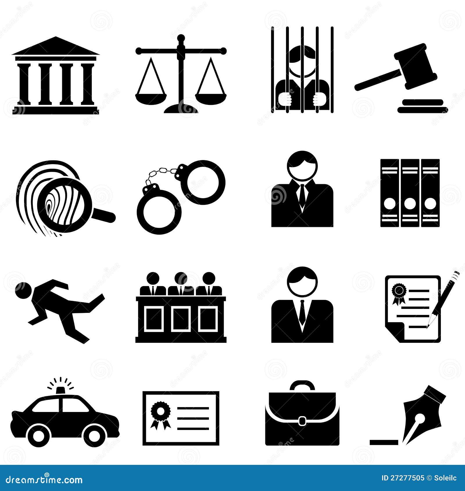 Legalny prawo i sprawiedliwości ikono,