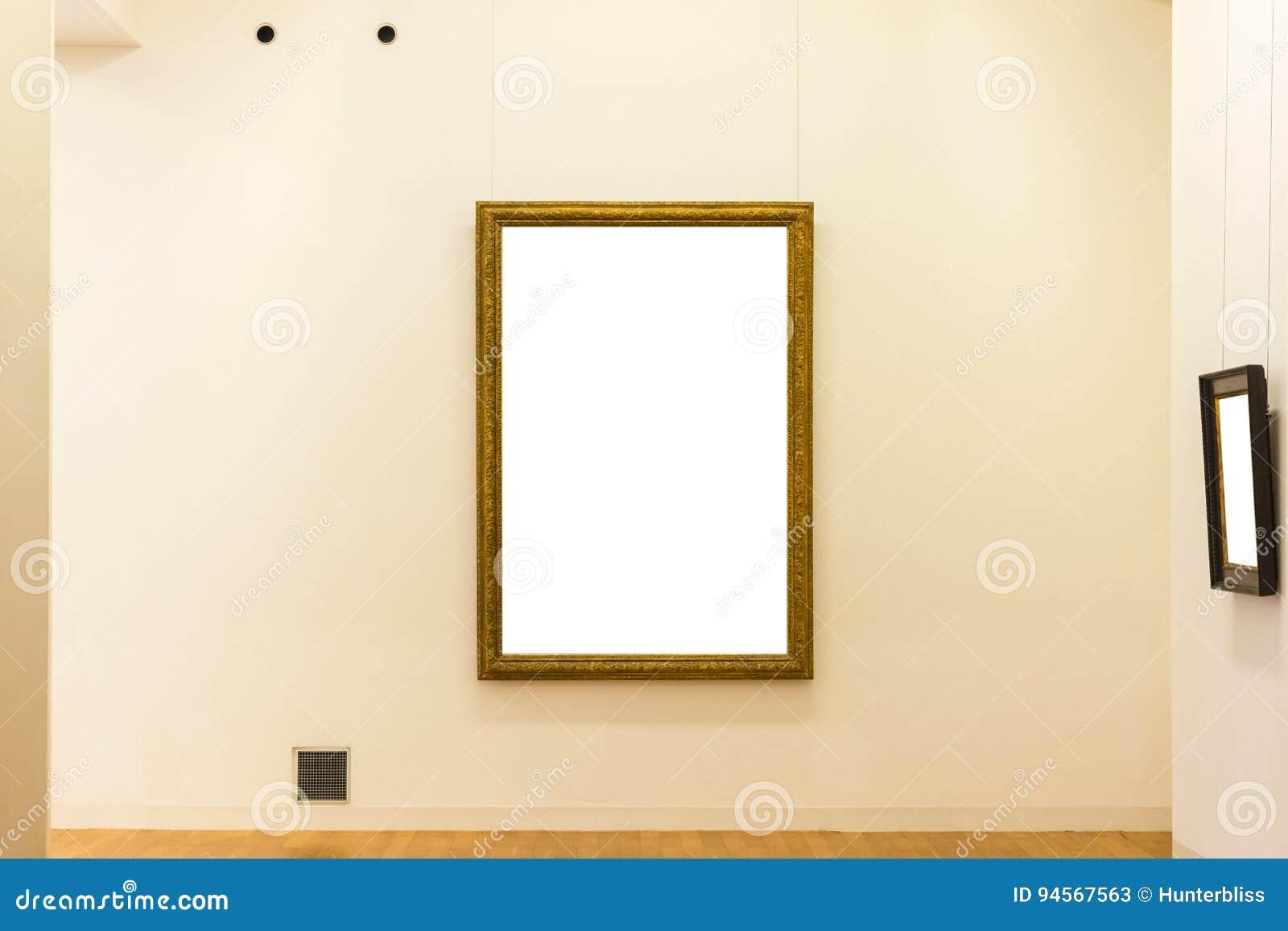 Lege Art Museum Isolated Painting Frame-Decoratie binnen Muur