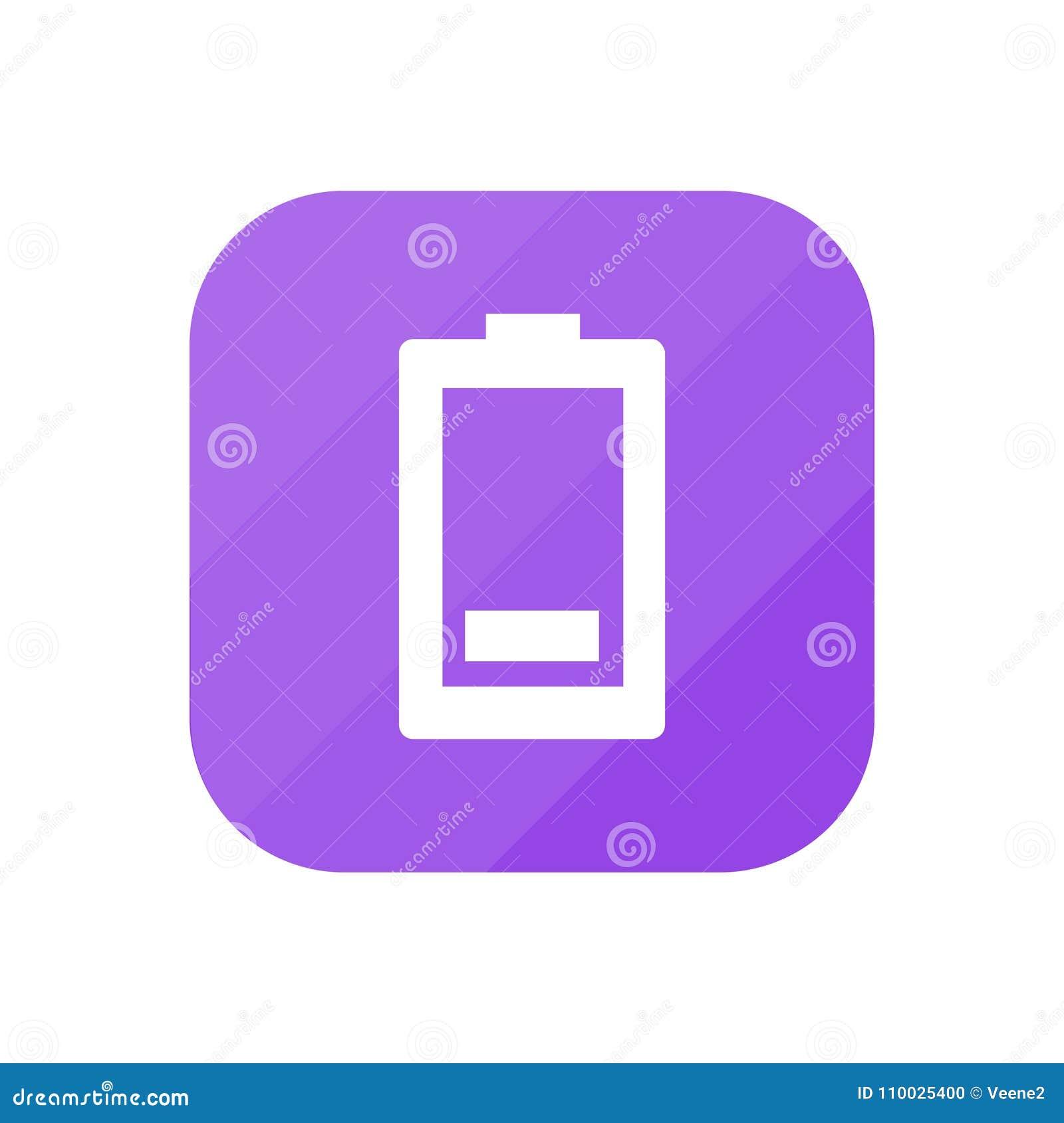 Lege Batterij - App Pictogram