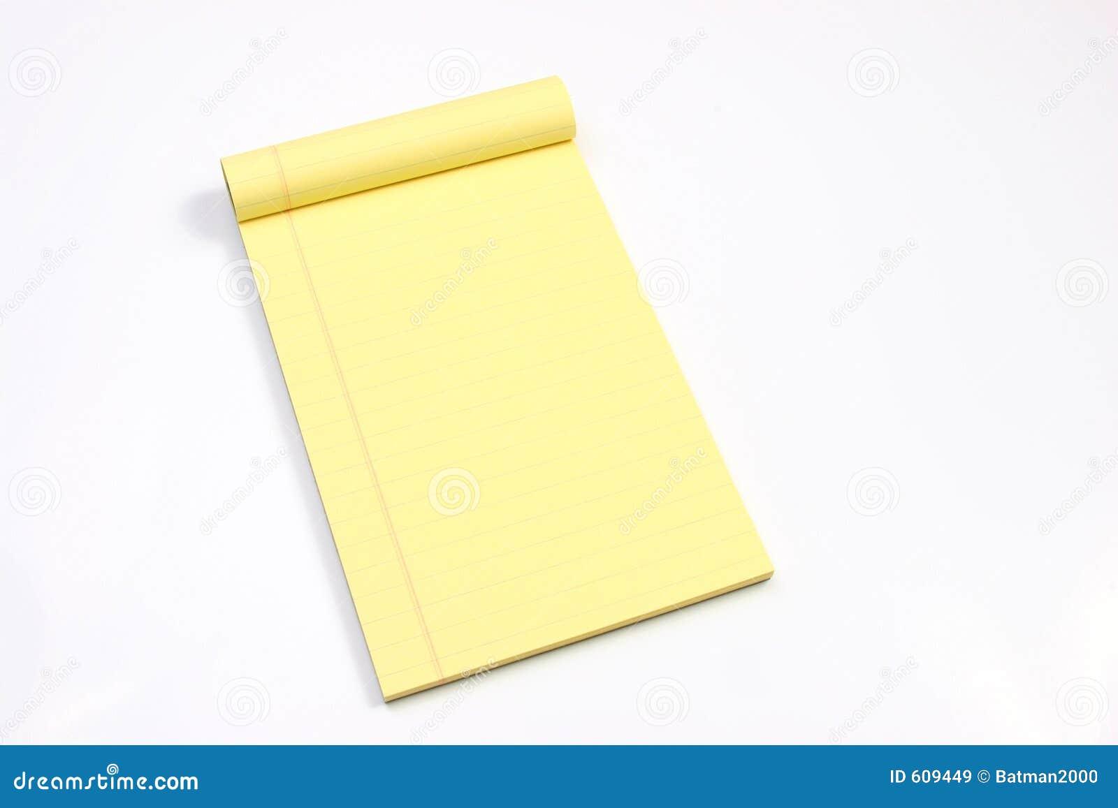Lege gele horizontale pagina s